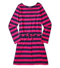 Polo Ralph Lauren® Girls' 7-16 Long Sleeve Striped Dress