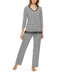 Ellen Tracy® Printed Pajama Top