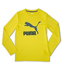 PUMA® Boys' 4-7 Long Sleeve Logo Tee