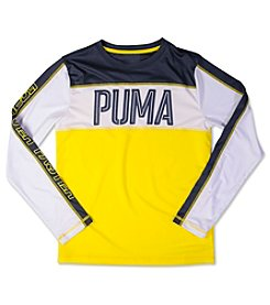 PUMA® Boys' 4-7 Long Sleeve Colorblock Tee
