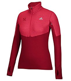 adidas® NCAA® University Of Nebraska Heat Transfer Women's 1/4 Zip Pullover