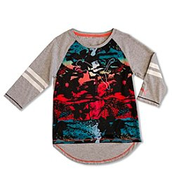 PUMA® Girls' 7-16 Long Sleeve Tropical Raglan Tee