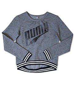 PUMA® Girls' 7-16 Long Sleeve Logo Pullover
