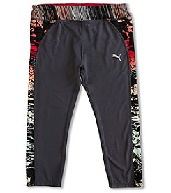 PUMA® Girls' 7-16 Printed Piping Capri Leggings