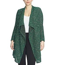 Chaus Tweed Stripe Snit Cardigan