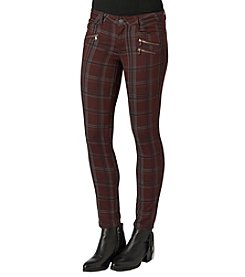 Democracy Plaid Trim Pants