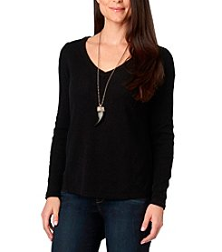 Democracy Back Lace Up Sweater