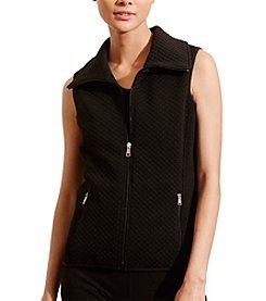Lauren Active® Quilted Jacquard-Knit Vest