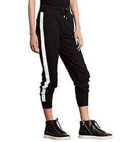 Lauren Active® Color-Blocked Cotton Joggers