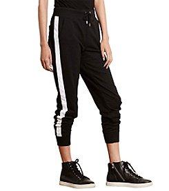 Lauren Active® Color-Blocked Cotton Joggers