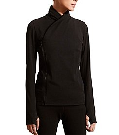 Lauren Active® Asymmetrical-Zip Jersey Jacket