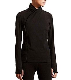 Lauren Active® Asymmetrical-Zip Jersey Jacket