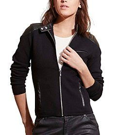 Lauren Ralph Lauren® Petites' Stretch Cotton Moto Jacket