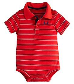 Under Armour® Baby Boys Striped Polo Bodysuit