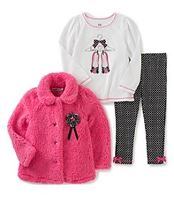 Kids Headquarters® Baby Girls' 3-Piece Love Shoes Jacket Set
