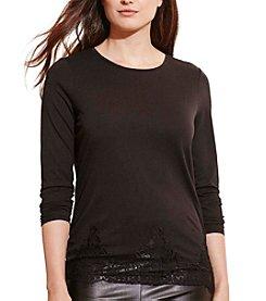 Lauren Ralph Lauren® Plus Size Lace-Hem Jersey Tee