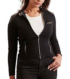 Lauren Ralph Lauren® Plus Size Stretch Cotton Moto Jacket