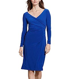 Lauren Ralph Lauren® Ruched Jersey Surplice Dress