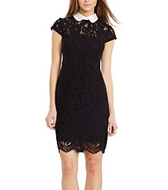 Lauren Ralph Lauren® Contrast Collar Lace Dress
