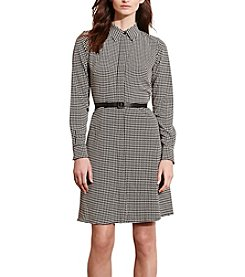 Lauren Ralph Lauren® Houndstooth Crepe Shirtdress