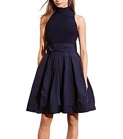 Lauren Ralph Lauren® Jersey-Taffeta Mockneck Dress