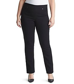 Gloria Vanderbilt® Plus Size Avery Straight Pull On Denim Jeans