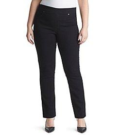 Gloria Vanderbilt® Plus Size Avery Straight Pull On Denim Jeans