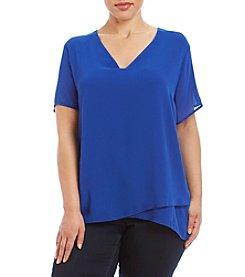 MICHAEL Michael Kors® Plus Size Short Sleeve V-Neck Top