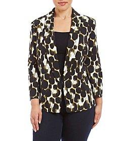 Kasper® Plus Size Leopard Print Jacket
