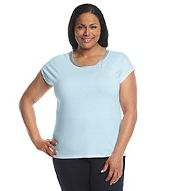 MICHAEL Michael Kors® Plus Size Metallic Trim Box Top