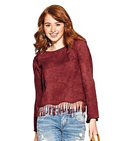 Skylar & Jade™ Festival Embroidered Top With Fringe