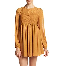 Jolt® Long Sleeve Lace Inset Dress