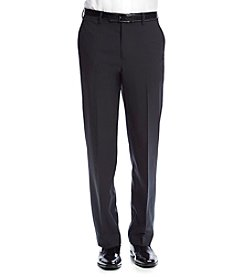 Savane® Men's Straight Fit Flat Front Four Way Stretch Dress Pants