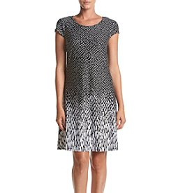 Madison Leigh® Dot Pattern Matte Jersey Dress