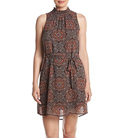 Black Rainn™ Print Sheath Dress