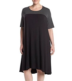 Lennie Plus Size Colorblock Shift Dress