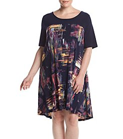 Lennie Plus Size Scoop Neck Shift Dress