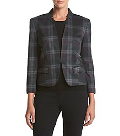 Nine West® Plaid Open Blazer