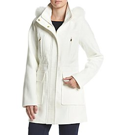 A. Byer Faux Fur Trim Hood Utility Jacket