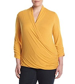 Jones New York® Plus Size Drape Front Top