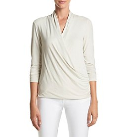 Jones New York Drape Front Top