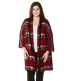 Rafaella® Plus Size Printed Oversized Duster