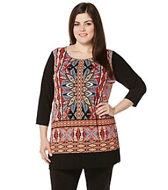 Rafaella® Plus Size Powerful Paisley Print Top