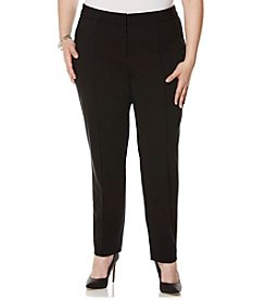 Rafaella® Plus Size Zip Ankle Twill Pants