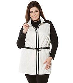 Rafaella® Plus Size Anorak Water Resistant Vest