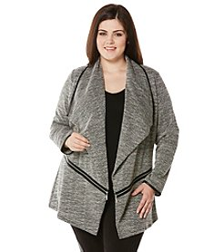 Rafaella® Plus Size Zipper Detail Menswear Blazer