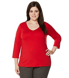 Rafaella® Plus Size Solid Knit Top