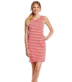 August Silk® Stripe Knit Dress