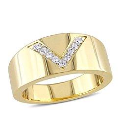 V1969 ITALIA White Sapphire Insignia Ring