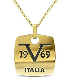 V1969 ITALIA Men's Logo Mark Necklace